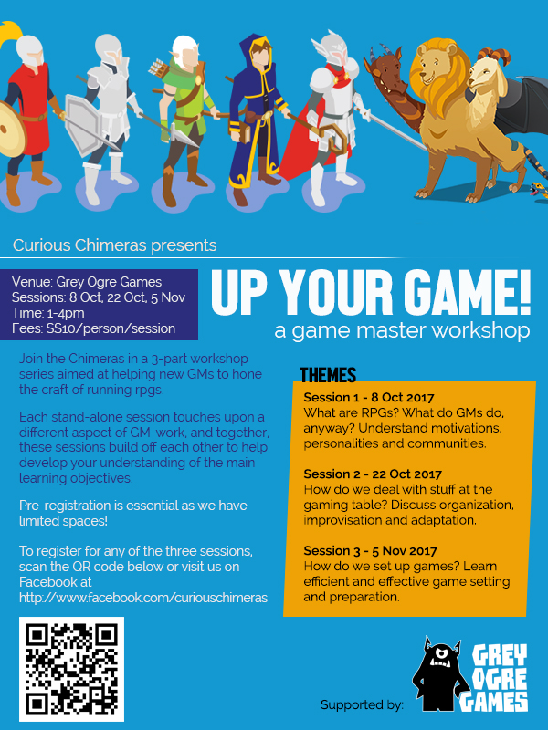 Up Your Game! Workshop series by the Curious Chimeras
